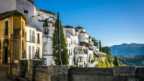buildings on the side of a hill in Ronda