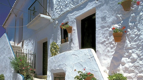 white building exterior in Frigiliana