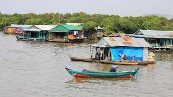 Crociera al tramonto con cena e tour del lago Tonlé Sap