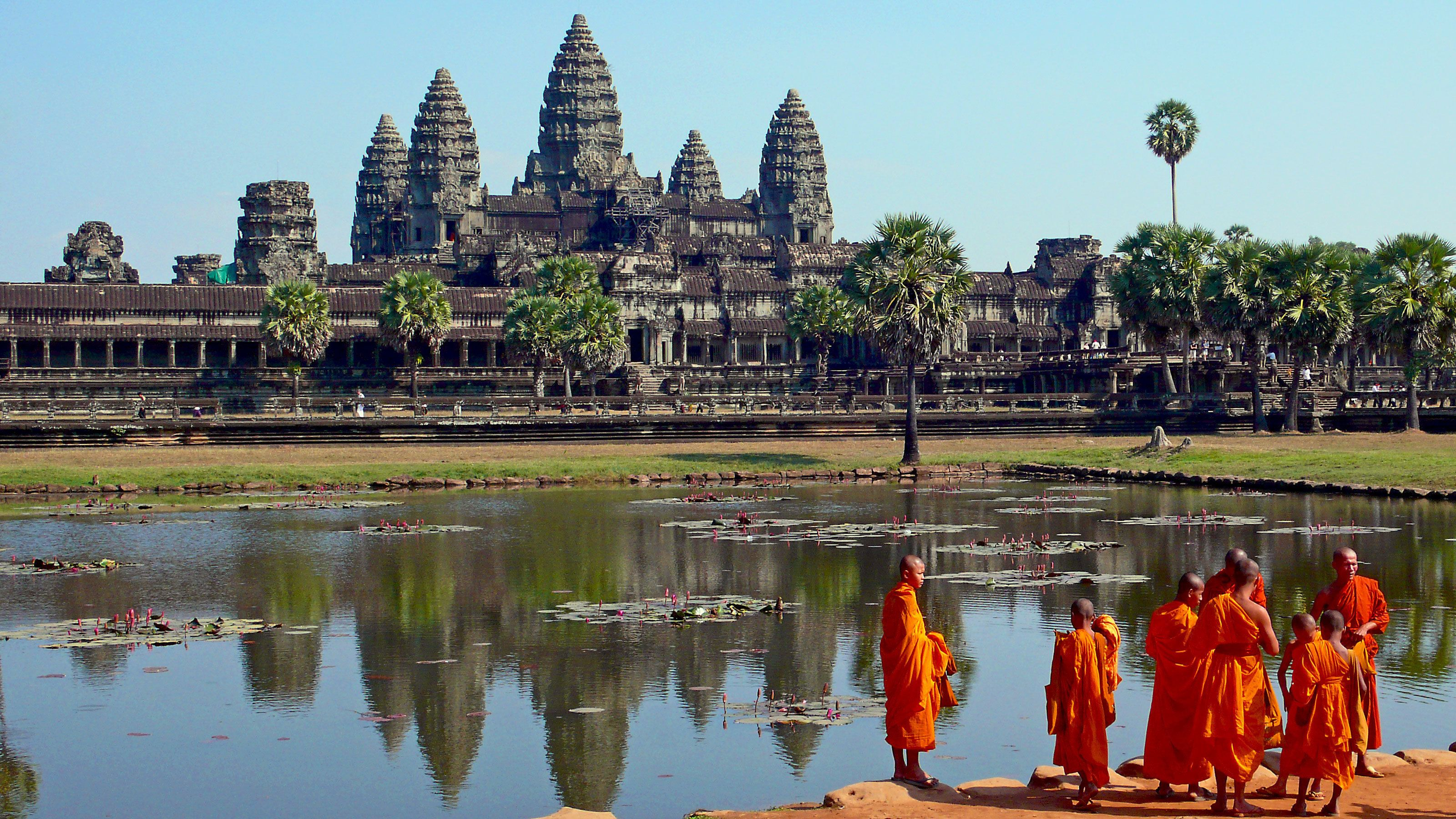 Monks standing
