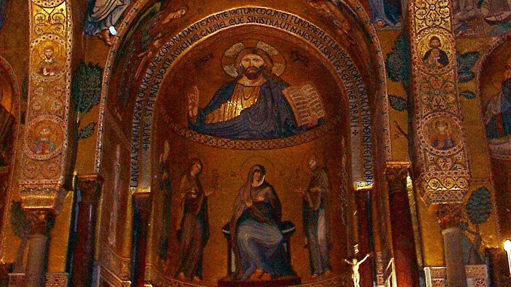 Apri foto 2 di 6. religious depictions inside the Monreale Cathedral in Sicily
