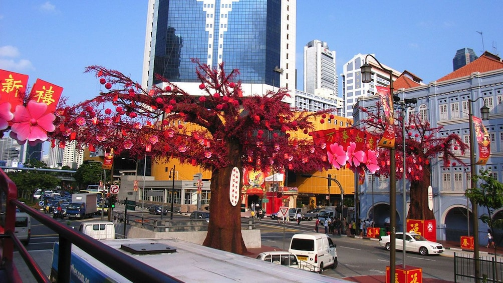 Show item 9 of 9. huge sculpture of cherry blossom tree in singapore