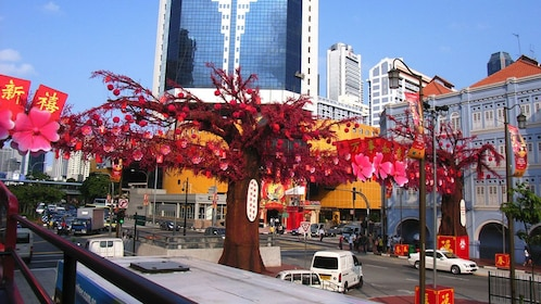 huge sculpture of cherry blossom tree in singapore
