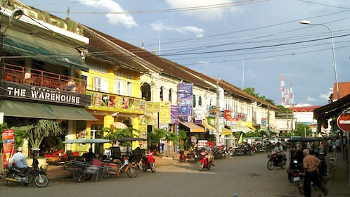 Beautiful street view of Siem Reap at day time