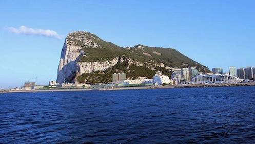 city between the Gibraltar Rock and the ocean in Malaga