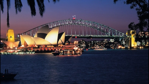 Beautiful look of the Sydney Harbour at night
