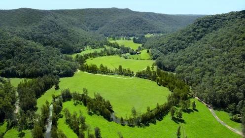 Lush green view of Glenworth Valley in Australia
