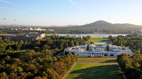 Panoramic view of Canberra the capital city of Australia