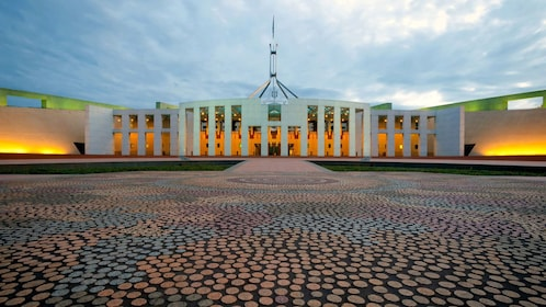 Awesome view of the Parliament House in Canberra