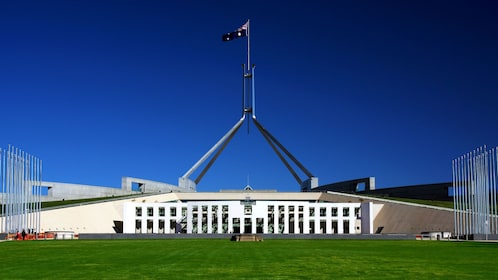 Beautiful view of Parliament House in Canberra
