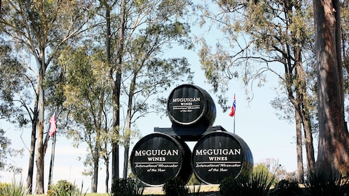 View of the McGuigan Winery entrance