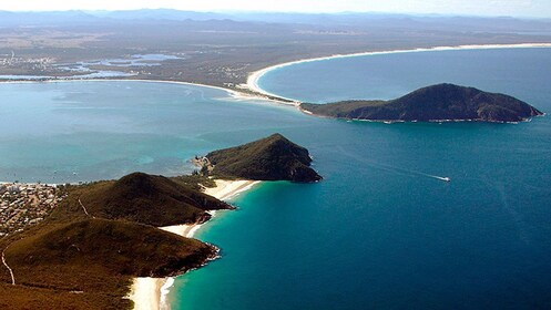 Breathtaking views of Port Stephens in Australia on a clear sunny day