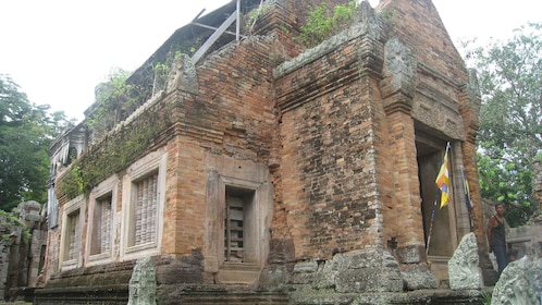 ancient remains of a temple in cambodia