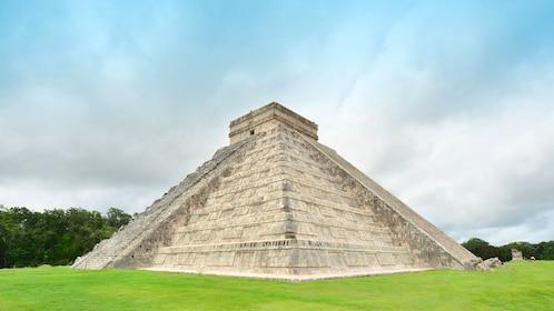 The El Castillo pyramid at Chichen Itza
