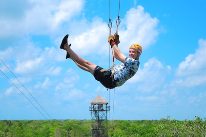 Tulum Xtreme Ruins, Cenote & Zipline Tour with Lunch