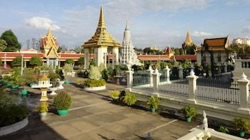 Visite privée de la pagode Wat Phnom, du palais royal et de la pagode d'arg...
