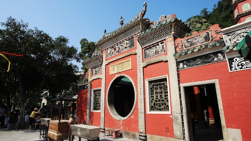 Old temple entrance in Macau