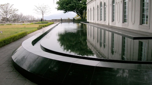 Reflecting pool outside of building in Macau