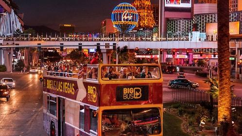 Ride through the Las Vegas strip on a two story tour bus