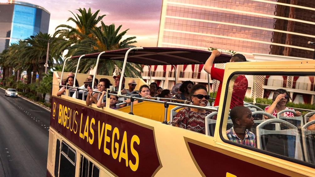 Show item 1 of 9. Las Vegas double decker bus tour of the city attractions