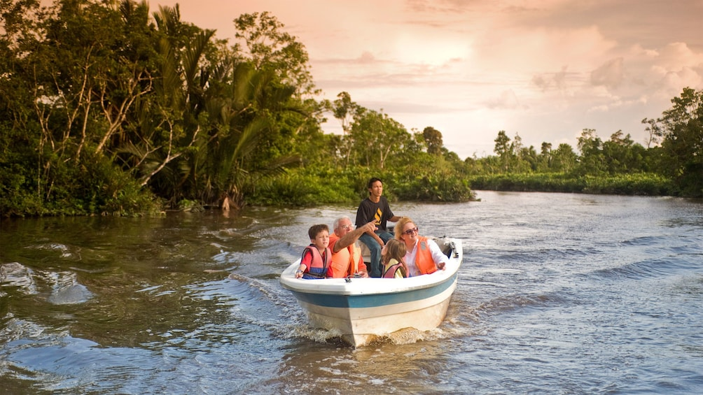 Show item 1 of 5. small boat in kota kinabalu