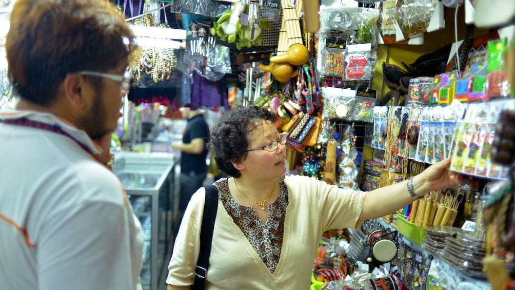 Woman shopping in Kota Kinabalu