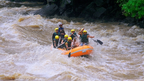 rafters in rapids in kota kinabalu