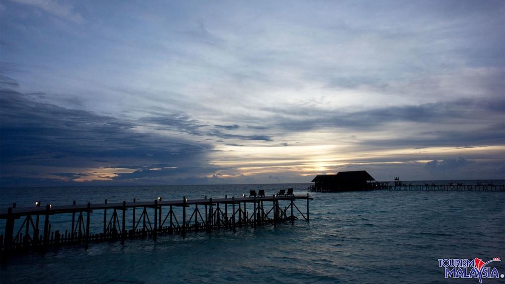 dock and sunset view in Kota Kinabalu