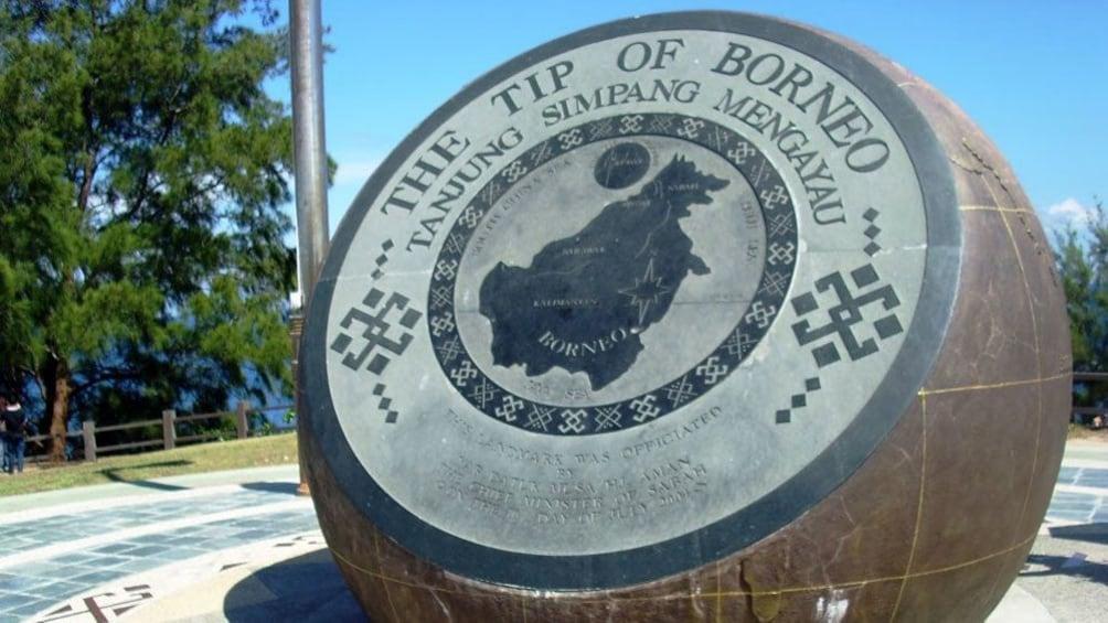 Tip of borneo sign in Kota Kinabalu