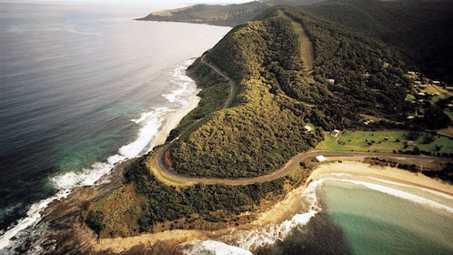 Great Ocean Road winding along the coast of Melbourne