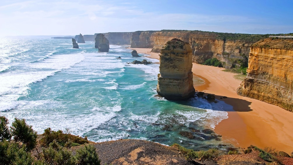 Show item 1 of 10. Twelve Apostles rock formations along the coast in Melbourne