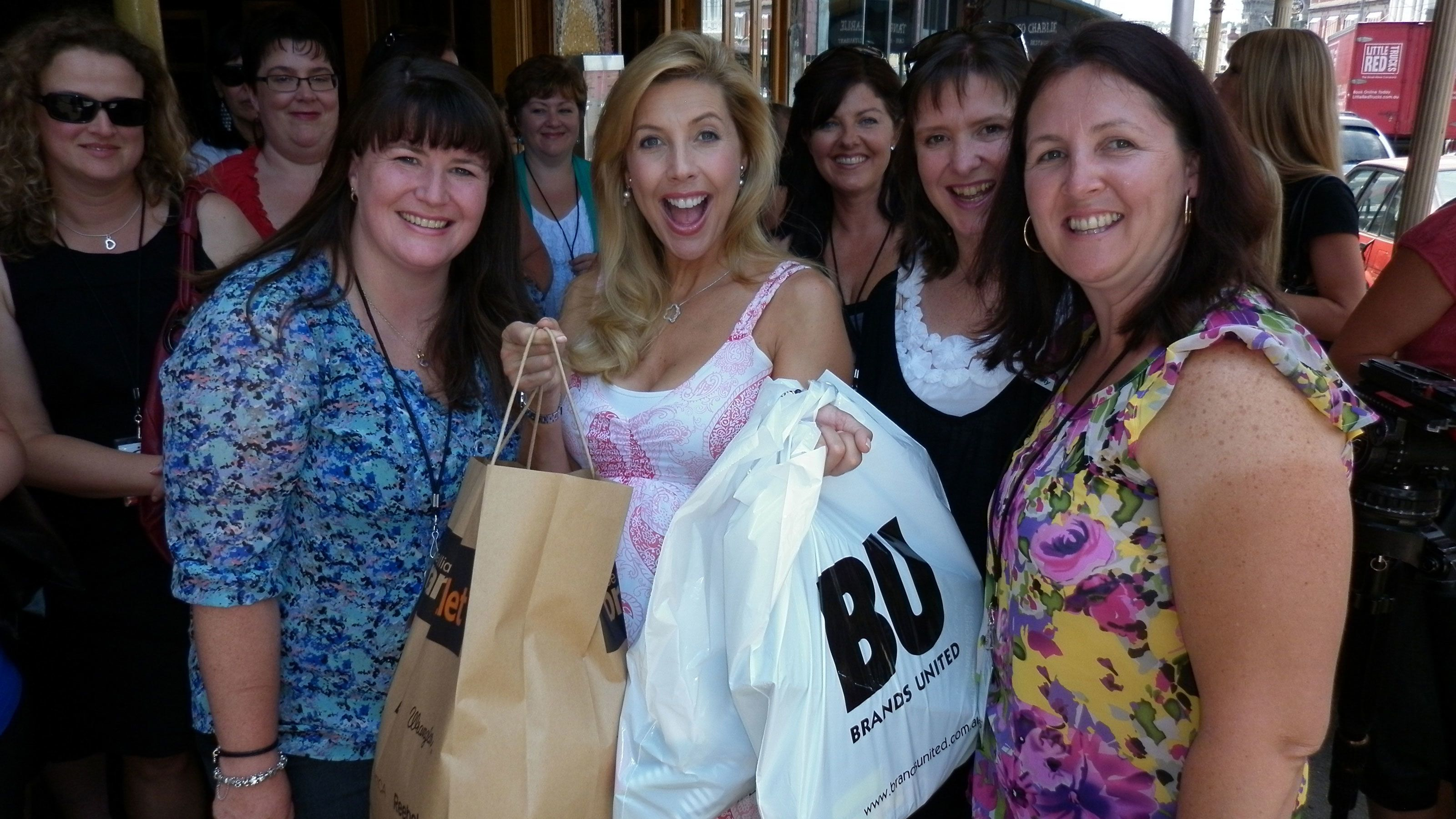 Shopping group with purchases in Melbourne