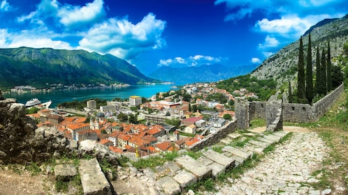 The old fortified town of Kotor in Dubrovnik