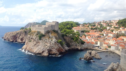 A small crescent shaped bay in Dubrovnik