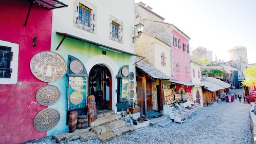 Small retail shops at Mostar in Dubrovnik