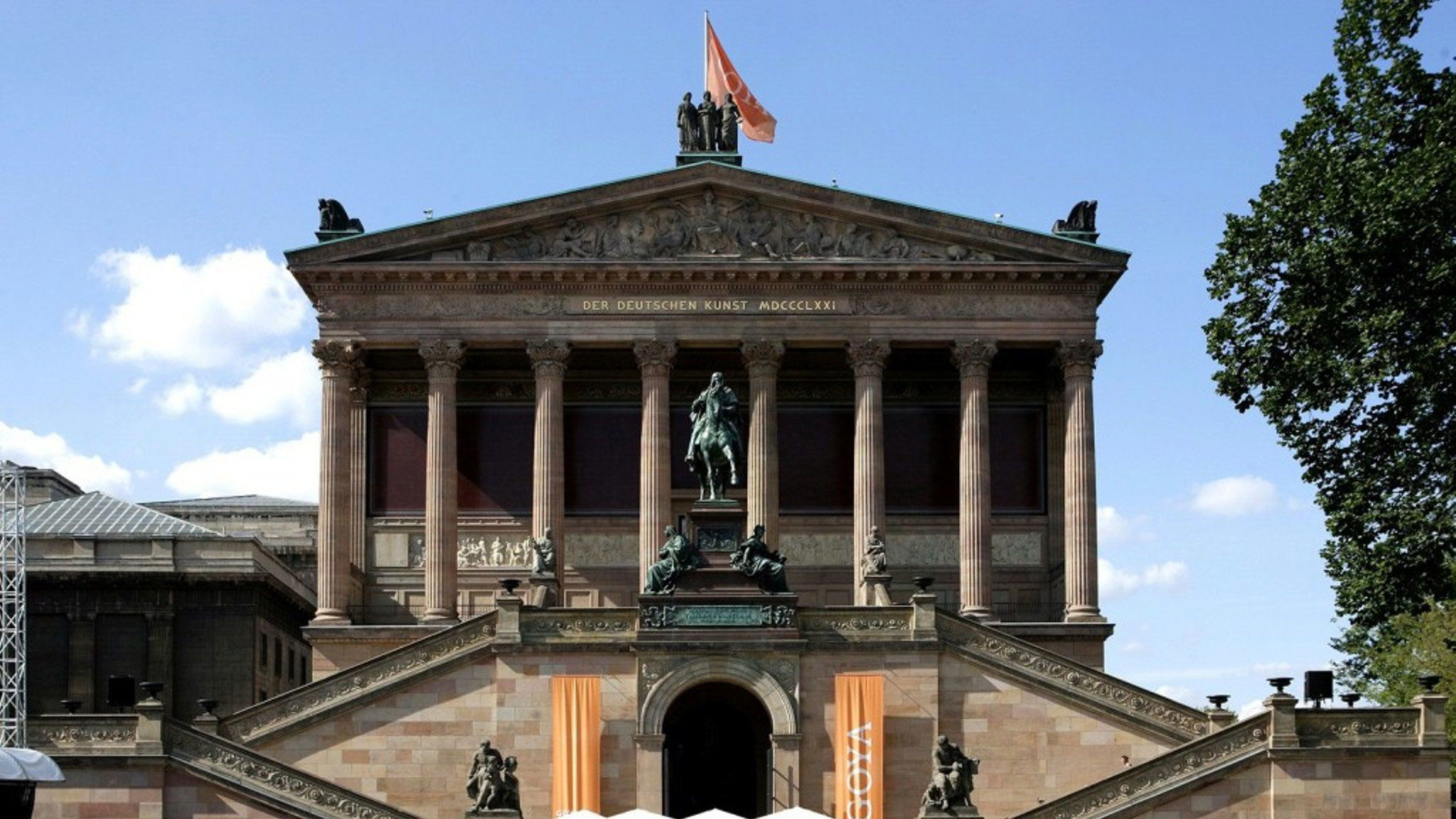 View of historical building in Berlin