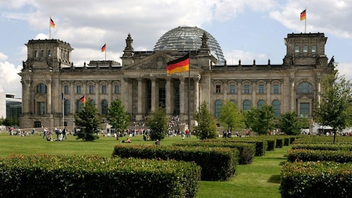The reichstag building in Berlin