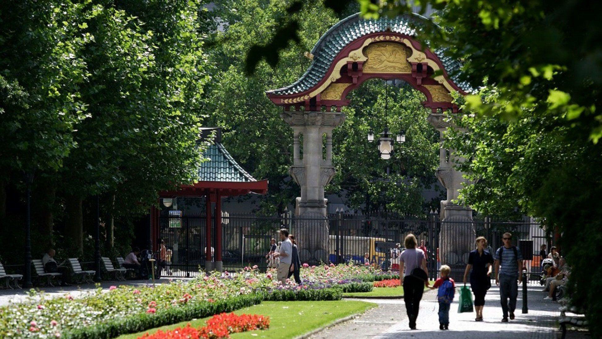People walking through park in Berlin