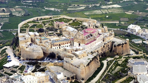 Heavily fortified Cittadella in Malta