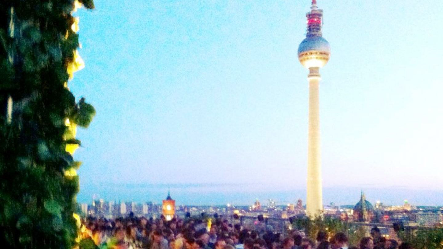 The Berlin TV tower at sunset