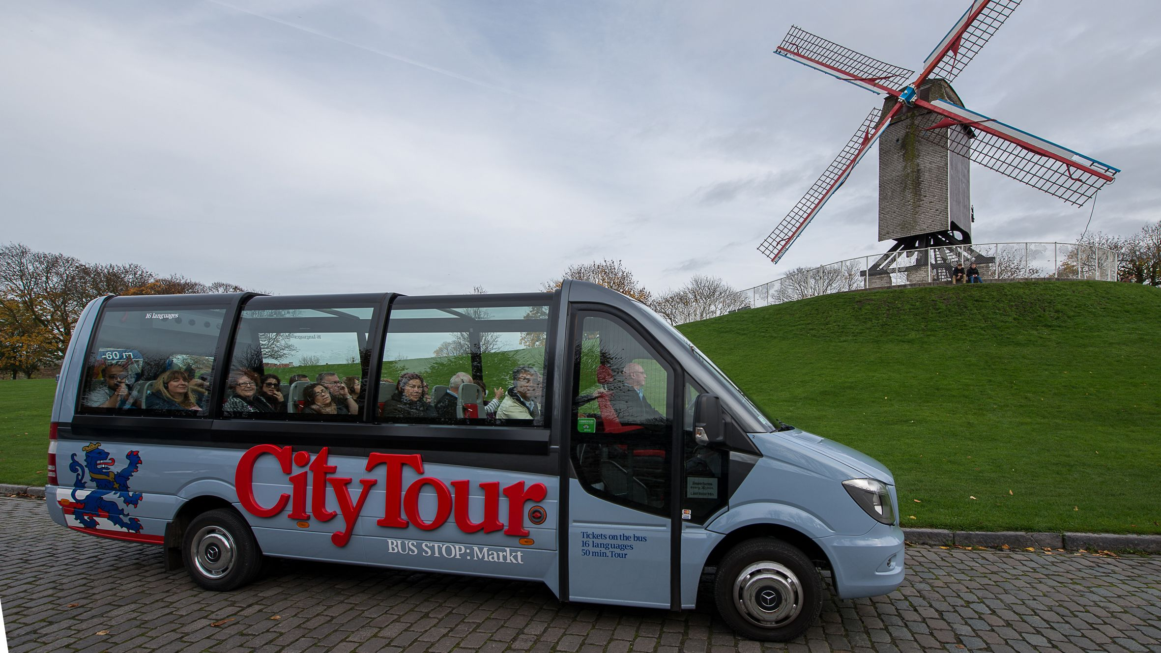 City Tour bus on country side