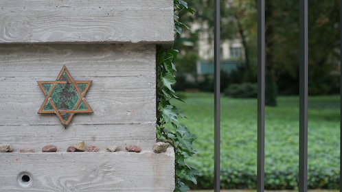 The star of david on a post in Berlin