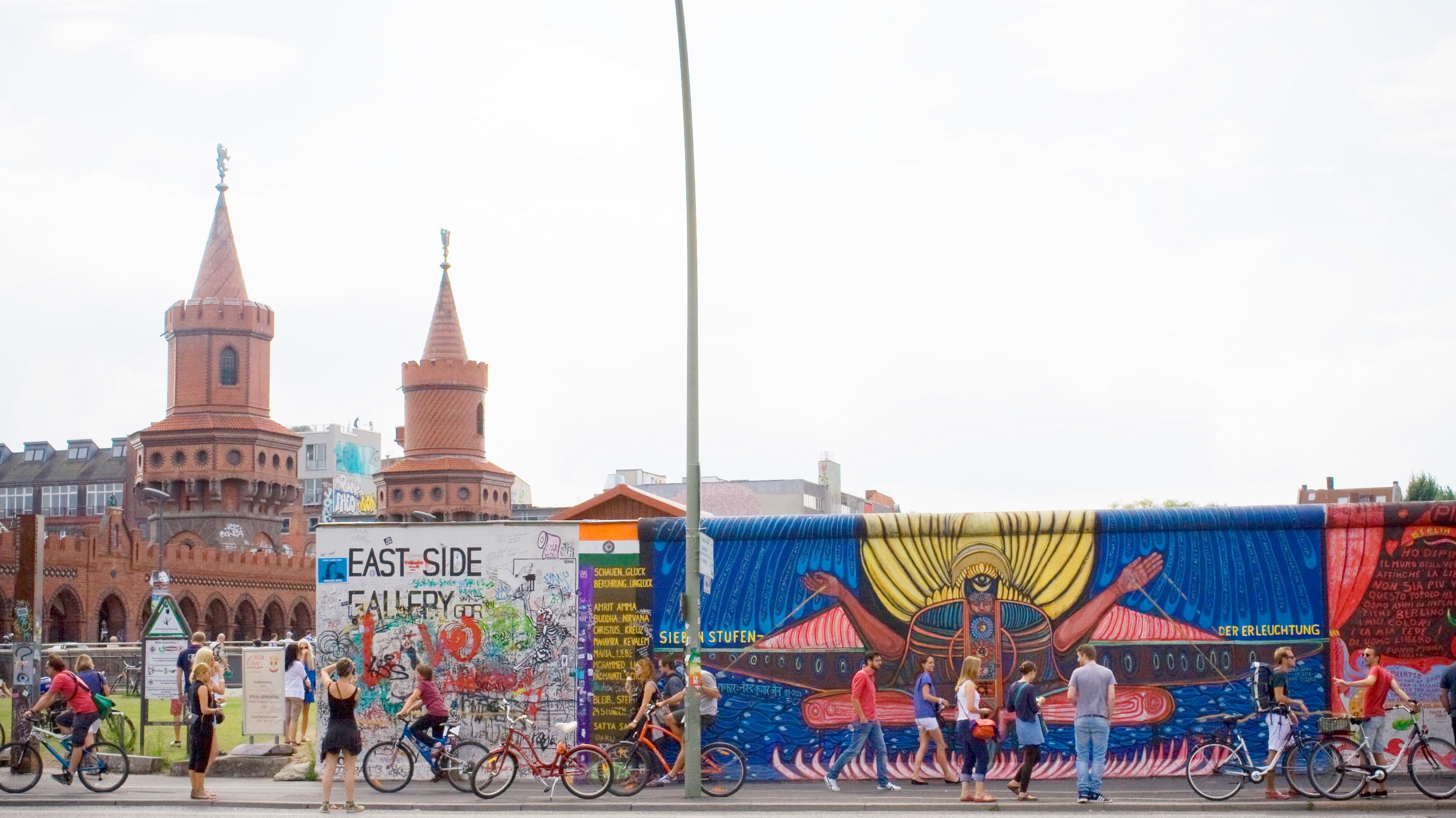 Murals on the remains of the Berlin Wall