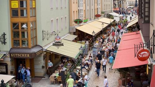 A bustling street in Dresden
