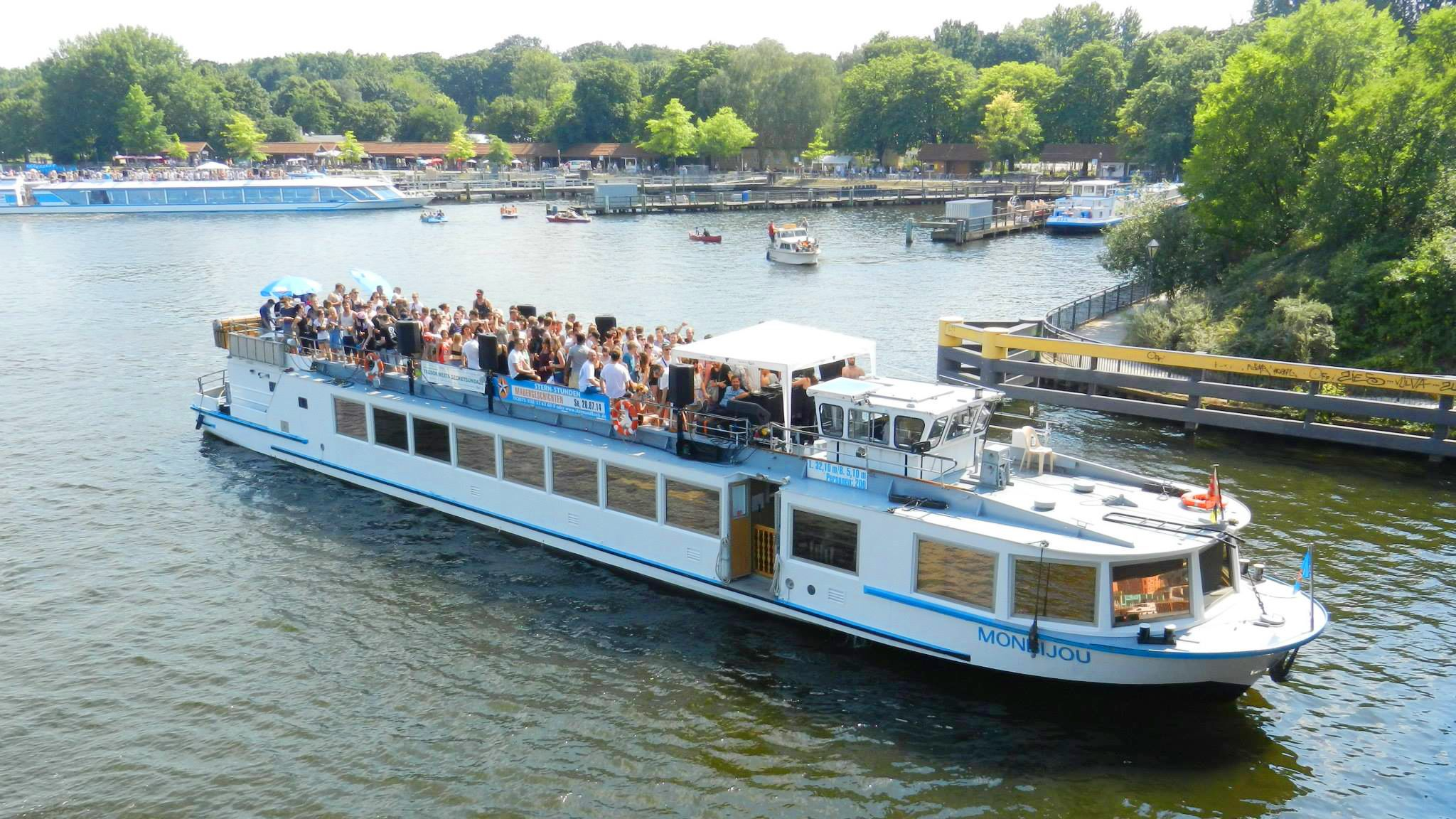 river cruise boat on the Spree river in Berlin