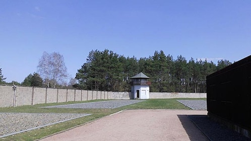 Guard house and fence at Sachsenhausen