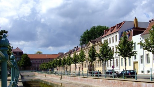 buildings along a river in Potsdam