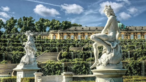 Statues at Sanssouci Palace in Potsdam