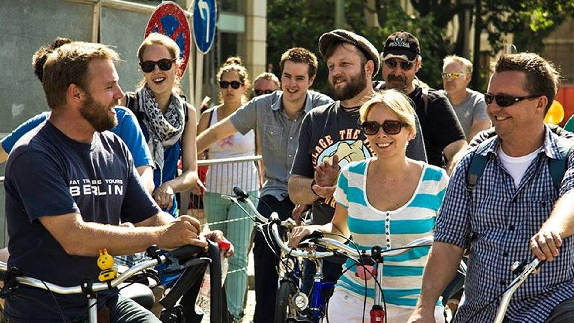 Bike tour group in Berlin