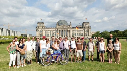 Tour group in front of the Reichstag building